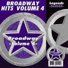 Broadway Musical Karaoke CDG CDs Legends Vol 4  NEW 3 Day Ship