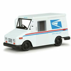 US Postal Service Mail Diecast Post Office Truck USPS Drives Pulls Back Kids Toy