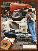 Vintage 1976 Original Print Ad CAMEL CIGARETTES ~General Store Canoe~ One Kind