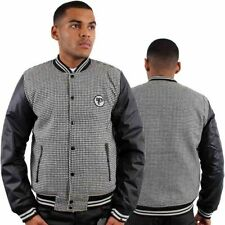 Polyester Button Coats & Jackets Baseball College for Men