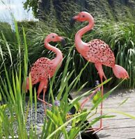 Luxform Garden & Outdoor Lighting Solar Metal Light Statue Ornament - Flamingo