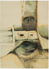 Unknown Unidentified European: Figure/ Surrealism British S/Watercolor Modernism
