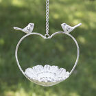 Love Bird Feeder Heart Shaped Vintage Hanging Dish Cast Iron With Chain