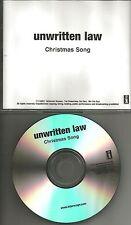 UNWRITTEN LAW Christmas Song RARE XMAS TRK TST PRESS PROMO DJ CD single 2001