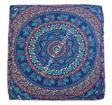 Indian Square Dog Bed Mandala Large Floor Baby Bed Ottoman Cushion Square Cover