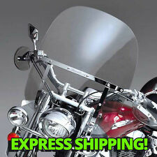 Harley Dyna Wide Glide FXDWG/FXWG Switchblade Windshield 2-Up CLEAR + Mount Kit