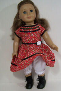 2pc RED Generic Cecile's DRESS BLOOMERS Doll Clothes For 18 American Girl (Debs*