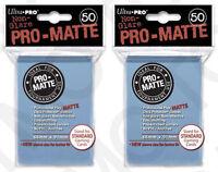 100 2pk ULTRA PRO Pro-Matte Deck Protector Card Sleeves Standard Light Blue
