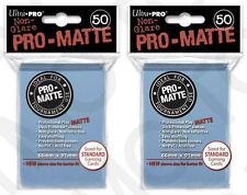 100 2pk ULTRA PRO Pro-Matte Deck Protector Card Sleeves Standard Light Blue