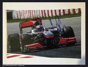 Jenson Button SIGNED autograph 12x8 photo McLaren, Formula 1 Spanish GP 2010