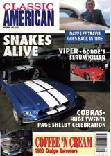 CLASSIC AMERICAN CARS Magazine. #29 Sept 1993 - Shelby Cobra 20 Page Celebration