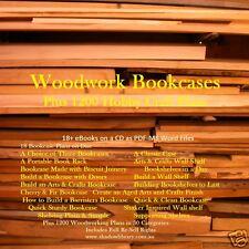 CD - Timber Woodwork Bookshelves - 1200 Hobbycraft Plans + 18 eBooks