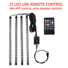 LED Car Foot Light Ambient Lamp With USB Wireless Remote Music Control Multiple