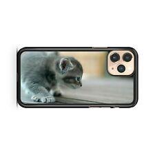 Mini Pequeño Acolchada Gato Juguetón Precioso Gatito Animales Funda de Teléfono