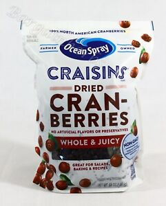 NEW! 64Oz OceanSpray Craisins Dried Cranberries Resealable Bag Free Shipping