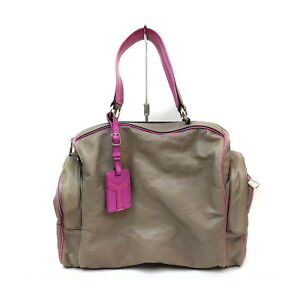 Yves Saint Laurent Hand Bag  Grays Leather 1135179
