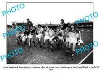 OLD 8x6 PHOTO ARTIE BEETSON SYDNEY ROOSTERS 1975 GRAND FINAL WIN