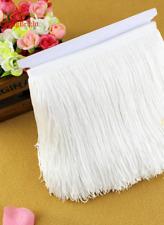 White 15cm Braid Trim Tassel Fringe Lace DIY Craft Clothing Price per 30cm Decor