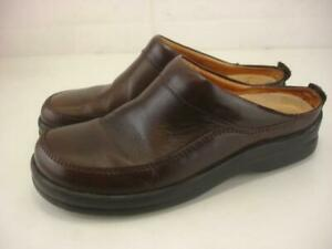 Footprints Birkenstock Ashby Brown Leather Clogs Slip-On Shoes Women's 7 7.5 38