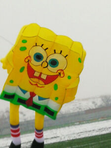new 10sqm soft kite 3D Huge Spongebob Giant Kite Outdoor Sport Easy to Fly
