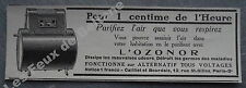 Publicité  Purificateur d'air OZONOR   1927 advert