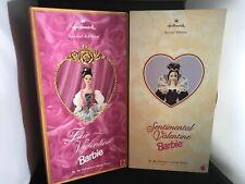 LOT 2 HALLMARK Collector Barbie Dolls Valentine; Fair & SentimentalNRFB