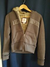 Abercrombie fur jacket Hoodie women's small warm