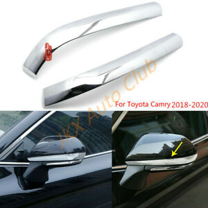 ABS Chrome Side Door Mirror Stripe Cover Trim 2pcs  For TOYOTA CAMRY  18-20