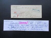AD Oldenburg Paketbegleitbrief Oldenburg - Stollhamm Klebezettel und Bartaxe 2