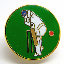 Cricket Player and Ball Sport Enamel Lapel Novelty Pin Badge in Gift Pouch