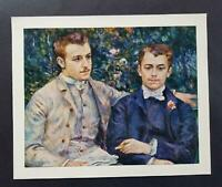 """Pierre Renoir """"Charles And George Durand-Ruel""""  Mounted Offset  Lithograph 1950"""