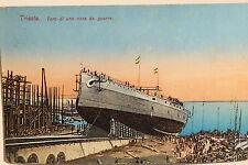 19707 AK Trieste varo di una nave poiché guerra cartolina PC ship Trieste 1912
