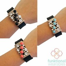 Renee Rhinestone Charm to Accessorize Fitbits & most Fitness Activity Trackers