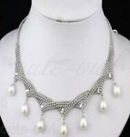 """Genuine 7-8mm White Cultivation Pearl Pendant Necklace 18"""" AAA"""