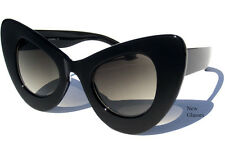 OVERSIZE CAT EYE WOMENS SUNGLASSES Retro Fashion Vintage Inspired Black Frame