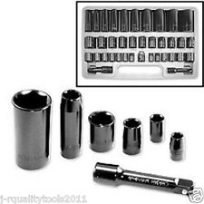 "3/8"" AND 1/2"" INCH DRIVE METRIC SAE IMPACT SOCKET TOOL SET AIR WRENCH"
