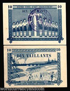 FRANCE VIETNAM 10 VAILLANTS GIRL SCOUT JESUS WITH VIETNAMESE RED CROSS CHOP