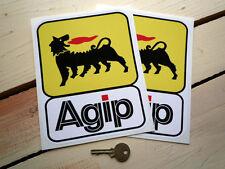 "AGIP Large Classic Race Car STICKERS 7.5"" Pair F1 Ducati WSB Sportscar Ferrari"