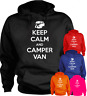 Keep Calm And Camper Van New Funny Hoodie Present Gift S-XXL