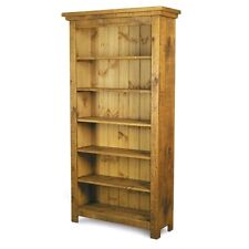 NEW SOLID WOOD TALL BOOKCASE BOOKSHELVES unit CHUNKY RUSTIC PLANK PINE FURNITURE