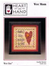 Wee Mom by Heart in Hand Cross Stitch Chart + Button