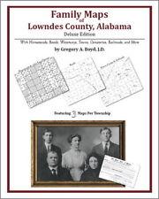Family Maps Lowndes County Alabama Genealogy AL Plat