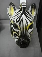 ZEBRA FARM ANIMAL HALLOWEEN MASK PVC