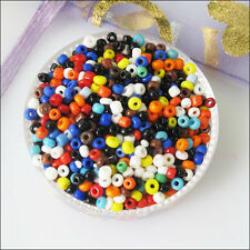 1200Pcs Mixed Solid Color Tiny Seed Round Glass Spacer Beads Charms 2mm