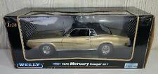 Welly 1970 Ford Mercury Cougar XR7 Diecast 1:18 Gold Black 12521-W K·B Kay Bee