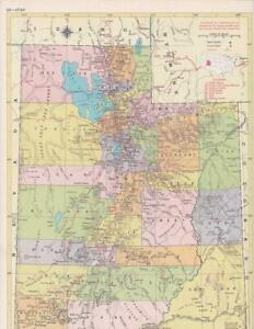 1957 Vintage Utah Map / 9x12 Great size for Wall Art/ 60+ years old