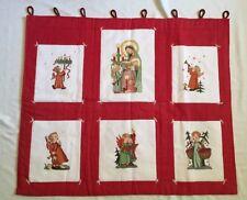 Hummel Xmas Wall hanging Quilt FINISHED Angel Duet Bearing gift Lil Gabriel CCS