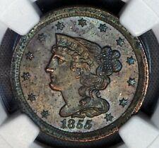 1855 1/2C Half Cent Copper NGC MS62 UNC MS BU