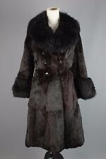 Vtg Women's 1960s 1970s Alaskan Fur Double Breasted Coat #1390 60s 70s Sz XS/S