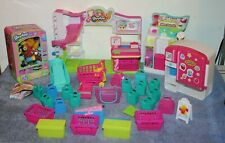 SHOPKINS BUNDLE LOT WITH OVER 100 PIECES IN VENDING TIN BOX PLUS ACCESSORIES
